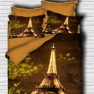 купить Постельное белье Lighthouse Ranforce 3D Eiffel Tower Коричневый фото