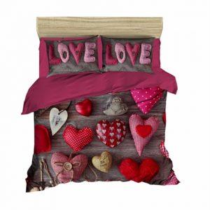 купить Постельное белье Lighthouse Ranforce 3D Lovelove Лиловый фото