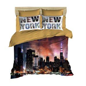 купить Постельное белье Lighthouse Ranforce 3D New York Коричневый фото
