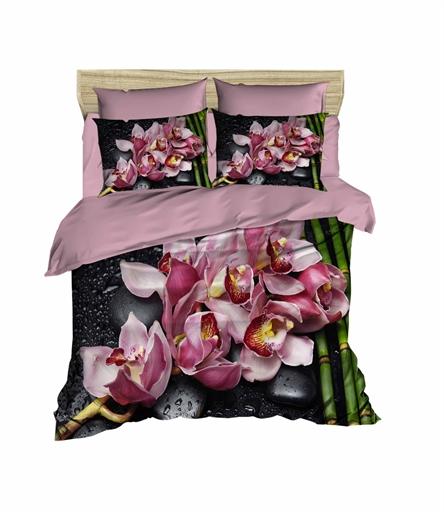 купить Постельное белье Lighthouse Ranforce 3D Orchids Розовый фото