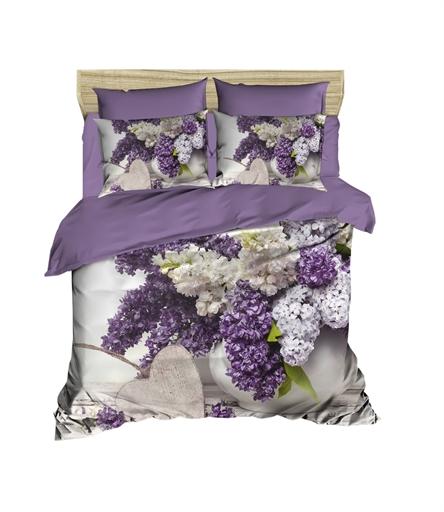 купить Постельное белье Lighthouse Ranforce 3D White Lilac Фиолетовый фото