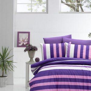 купить Постельное белье Lighthouse Ranforce Stripe Фиолетовый фото