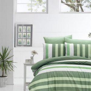 купить Постельное белье Lighthouse Ranforce Stripe green Зеленый фото