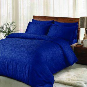 купить Постельное белье TAC жаккард Brinley lacivert Синий фото