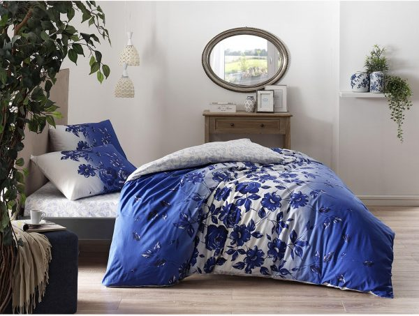 купить Постельное белье TAC ранфорс Lizzy mavi v01 Голубой фото