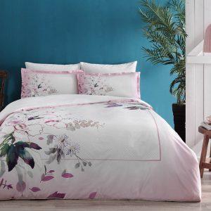 купить Постельное белье TAC сатин Mateo v01 pembe Розовый фото