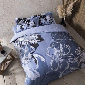 купить Постельное белье TAC сатин Serah mavi v01 Голубой фото