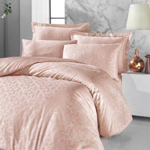 купить Постельное белье Victoria Deluxe Jacquard Sateen Rimma Розовый Розовый фото