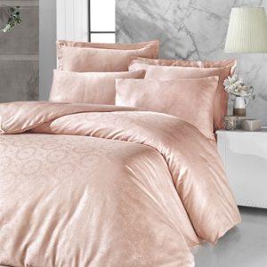 купить Постельное белье Victoria Deluxe Jacquard Sateen Valeria Розовый Розовый фото