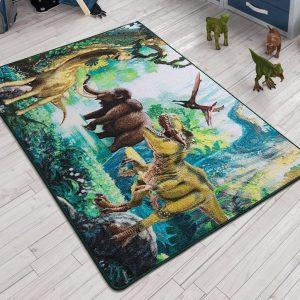 купить Коврик в детскую комнату Confetti Dinosaur Yesil 100x150