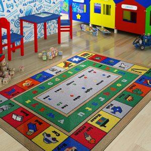 купить Коврик в детскую комнату Confetti Lesson Mavi 100x150