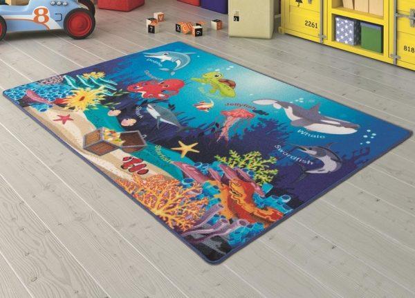 купить Коврик в детскую комнату Confetti Ocenarium Mavi 100x150