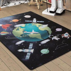 купить Коврик в детскую комнату Confetti Outer Space Lacivert 100x150