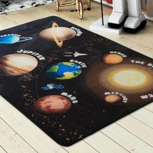 купить Коврик в детскую комнату Confetti Planets Siyah 100x150