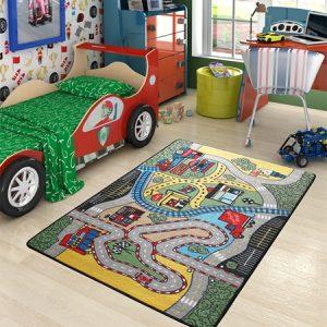 купить Коврик в детскую комнату Confetti Race Yesil 100x150