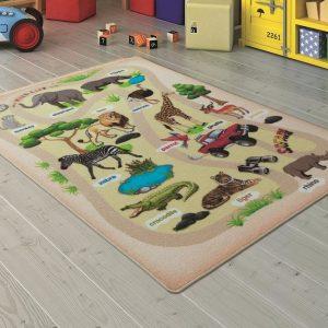 купить Коврик в детскую комнату Confetti Wild Life Bej 100x150