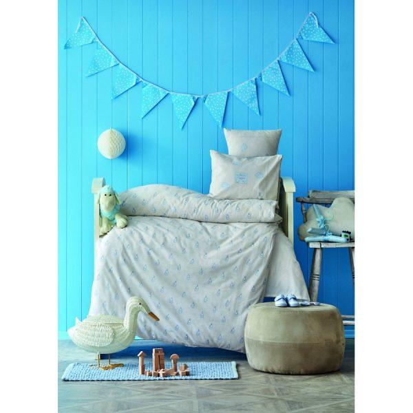купить Постельное белье для младенцев Karaca Home - Stork gri 2020-2 Голубой фото