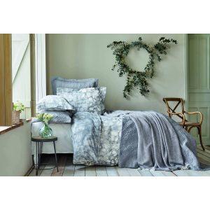 купить Постельное белье с покрывалом и пике Karaca Home - Bush gri 2020-2 Голубой фото