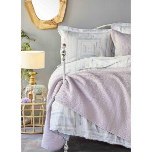 купить Постельное белье с покрывалом Karaca Home - Nova mavi 2020-2 Голубой фото