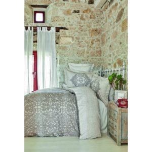 купить Постельное белье Karaca Home сатин - Adare bej 2020-2 Бежевый|Серый фото
