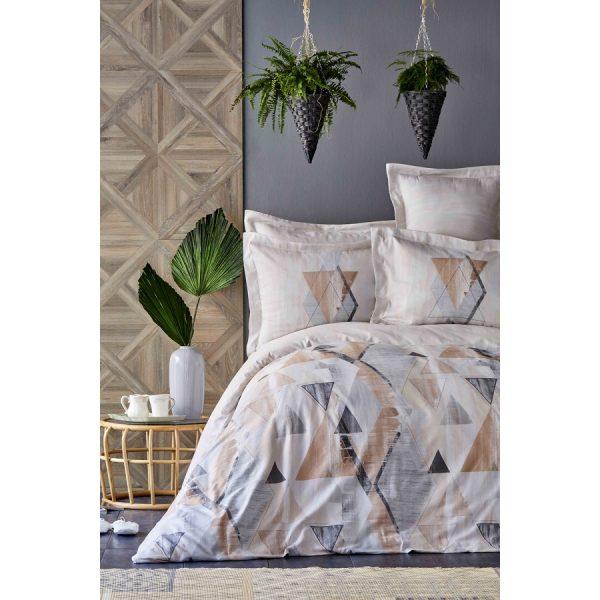 купить Постельное белье Karaca Home сатин - Arles somon 2020-1 king size Бежевый фото