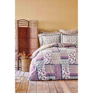 купить Постельное белье Karaca Home сатин - Maryam fusya 2020-2 Лиловый фото