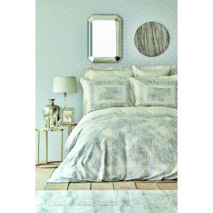 купить Постельное белье Karaca Home сатин - Vina gri 2020-2 Голубой фото