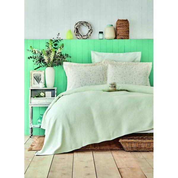 купить Постельное белье Karaca Home - Fois su yesil 2020-2 pike jacquard Зеленый фото