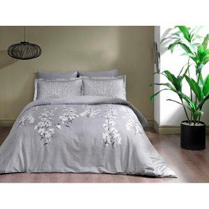 купить Постельное белье TAC сатин - Ronna gri v02 Серый фото