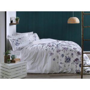 купить Постельное белье TAC сатин - Zaira lila v52 Лиловый фото