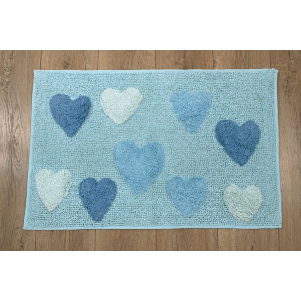 купить Коврик Irya - Hearts azzuro голубой