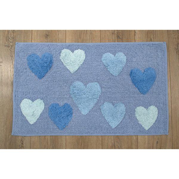 купить Коврик Irya - Hearts blue голубой