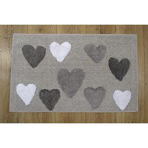 купить Коврик Irya - Hearts grey серый