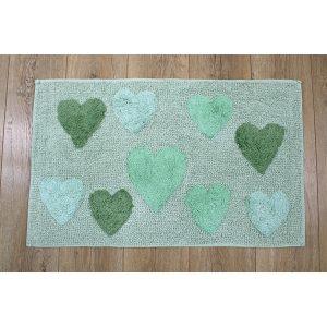 купить Коврик Irya - Hearts verde зеленый