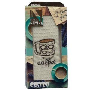 купить Кухонное полотенце Nilteks вафельное Coffee 40*60
