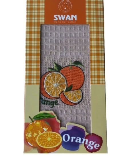 купить Кухонное полотенце Swan вафельное Orange 40*60