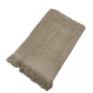 купить Махровое полотенце UzTex Home 500 бахрома 70*140 Бежевый