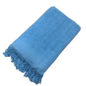 купить Махровое полотенце UzTex Home 500 бахрома 70*140 Бирюзовый
