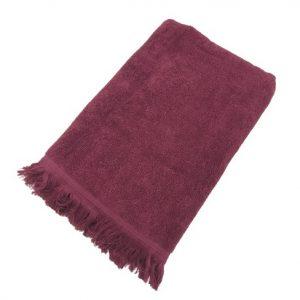 купить Махровое полотенце UzTex Home 500 бахрома 70*140 Бордовый