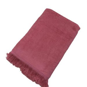 купить Махровое полотенце UzTex Home 500 бахрома 70*140 Розовый