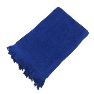 купить Махровое полотенце UzTex Home 500 бахрома 70*140 Синий