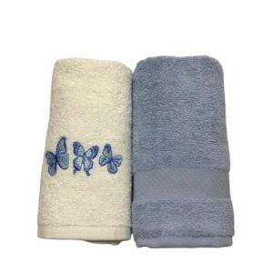 купить Набор кухонных полотенец Casabel 40*60 2 шт Голубой