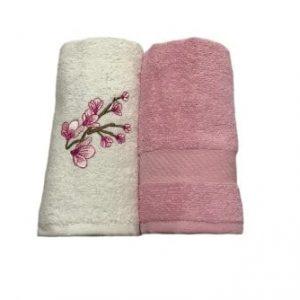 купить Набор кухонных полотенец Casabel 40*60 2 шт Розовый