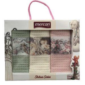 купить Набор кухонных полотенец Mercan вафельных 3D Statues Series 40*60 3 шт