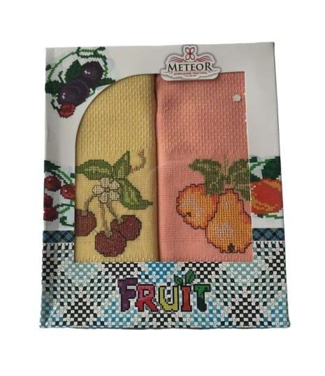 купить Набор кухонных полотенец Meteor Fruit V01 40*60 2 шт