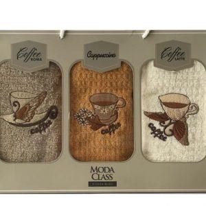 купить Набор кухонных полотенец Moda Class вафельная махра Vision Mert 40*70 3 шт