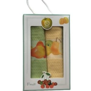 купить Набор кухонных полотенец Nilteks 3D Fruit 40*60 2 шт