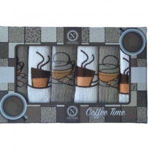 купить Набор кухонных полотенец Nilteks Coffee Time V03 40*60 6 шт