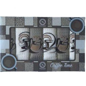 купить Набор кухонных полотенец Nilteks Coffee Time V04 40*60 6 шт