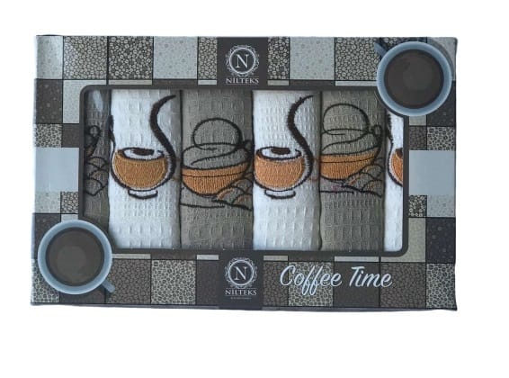 купить Набор кухонных полотенец Nilteks Coffee Time V05 40*60 6 шт